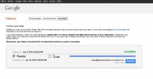 Google Reader Export Download