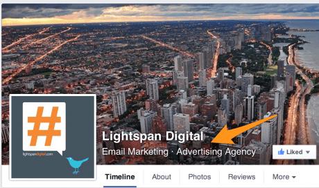Where Facebook Business Categories show
