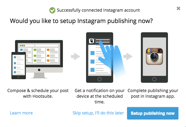 Scheduling Instagram on Hootsuite is not what we hoped