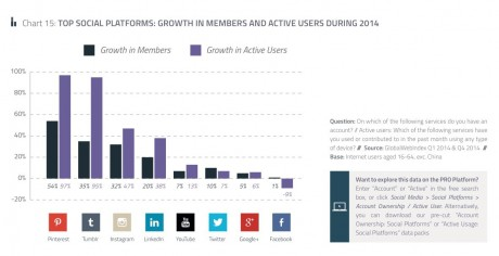 visual social networks are growing the fastest