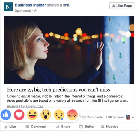 how to find Facebook reactions