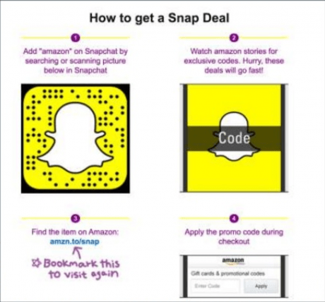 amazon deal to get snapchat followers